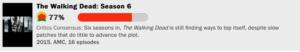 ウォーキング・デッドシーズン6の評価点数