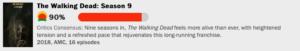 ウォーキング・デッドシーズン9の評価点数